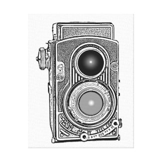 ヴィンテージのレトロのカメラ キャンバスプリント