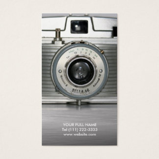 ヴィンテージのレトロのカメラ 名刺