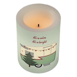 ヴィンテージのレトロのキャンピングカーのクリスマスのFlameless蝋燭 LEDキャンドル