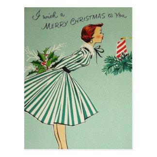 ヴィンテージのレトロのクリスマスの郵便はがき ポストカード