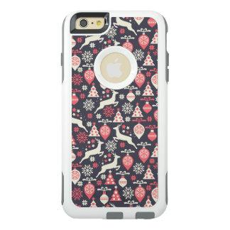 ヴィンテージのレトロのクリスマスパターン休日 オッターボックスiPhone 6/6S PLUSケース