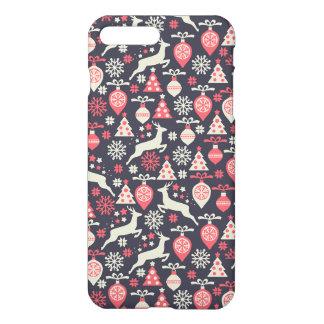 ヴィンテージのレトロのクリスマスパターン休日 iPhone 8 PLUS/7 PLUSケース