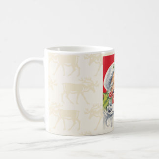 ヴィンテージのレトロのサンタのトナカイのコーヒーカップのマグ コーヒーマグカップ