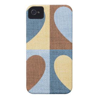 ヴィンテージのレトロのハート Case-Mate iPhone 4 ケース