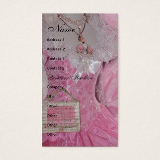ヴィンテージのレトロのピンクの服 名刺