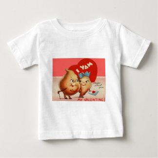ヴィンテージのレトロのヤマイモのバレンタインカード ベビーTシャツ