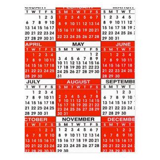 ヴィンテージのレトロの低俗なポップアート365のカレンダー ポストカード