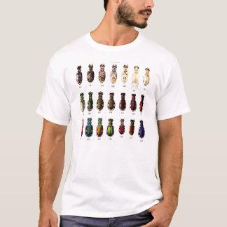 ヴィンテージのレトロの低俗な昆虫のBettlesのイラストレーション Tシャツ