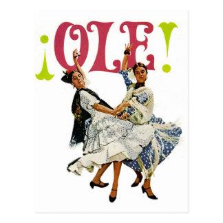 ヴィンテージのレトロの女性のオーレスペインのなフラメンコのダンサー! ポストカード