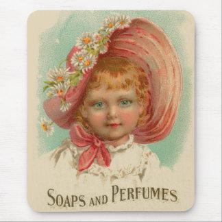 ヴィンテージのレトロの女性の石鹸及び香水の女の子 マウスパッド