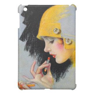 ヴィンテージのレトロの女性20sハリウッドの口紅の女の子 iPad miniケース