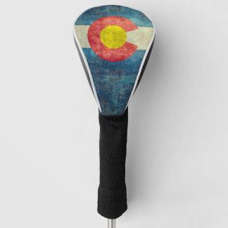 ヴィンテージのレトロの汚い一見を用いるコロラド州の州の旗 ゴルフヘッドカバー