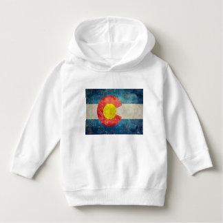 ヴィンテージのレトロの汚い一見を用いるコロラド州の州の旗 パーカ