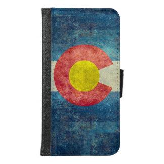 ヴィンテージのレトロの汚い一見を用いるコロラド州の州の旗 GALAXY S6 ウォレットケース