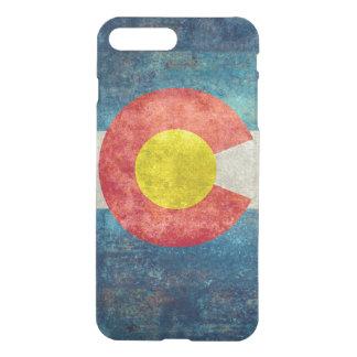 ヴィンテージのレトロの汚い一見を用いるコロラド州の州の旗 iPhone 7 PLUSケース