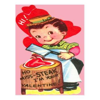 ヴィンテージのレトロの肉屋のバレンタインカード ポストカード