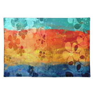 ヴィンテージのレトロの花パターン3 ランチョンマット