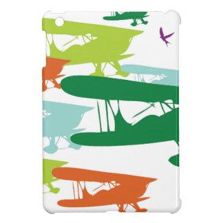 ヴィンテージのレトロの複葉機の孤独なすずめの飛行機Desi iPad Miniケース