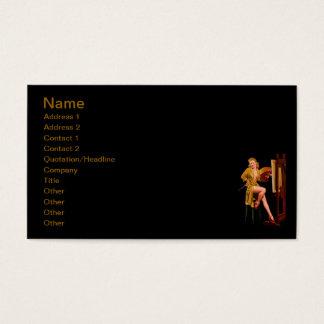 ヴィンテージのレトロのElvgrenペインターの芸術家のピンナップの女の子 名刺
