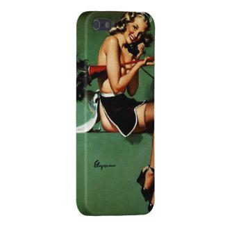 ヴィンテージのレトロのGil Elvgrenのフランスのな女中のピンナップの女の子 iPhone 5 Case
