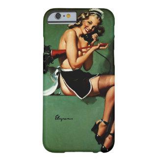 ヴィンテージのレトロのGil Elvgrenのフランスのな女中のピンナップの女の子 iPhone 6 ベアリーゼアケース