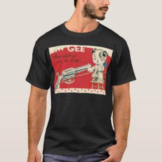 ヴィンテージのレトロのMacbreの自殺の子犬のバレンタインカード Tシャツ
