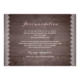 ヴィンテージのレースの素朴な結婚式の調節 カード