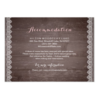 ヴィンテージのレースの素朴な結婚式の調節 11.4 X 15.9 インビテーションカード