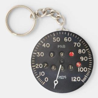 ヴィンテージのレースカーからの古い速度計のゲージ キーホルダー