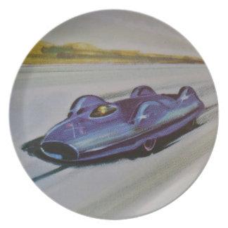 ヴィンテージのレースカーのプレート プレート