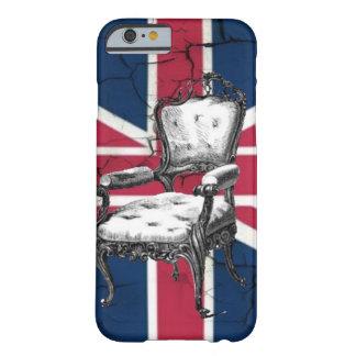 ヴィンテージのロココ様式の椅子のイギリスの旗の英国国旗 BARELY THERE iPhone 6 ケース