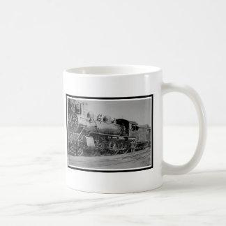 ヴィンテージのロコモーティブの鉄道蒸気機関 コーヒーマグカップ