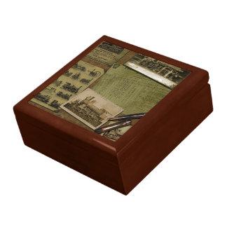 ヴィンテージのロコモーティブのJewlery箱 ギフトボックス