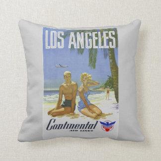 ヴィンテージのロサンゼルス旅行ポスター枕 クッション