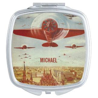 ヴィンテージのロシアのな航空プロパガンダのカスタムな鏡