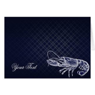 ヴィンテージのロブスターの濃紺のエレガントな上品は感謝していしています カード