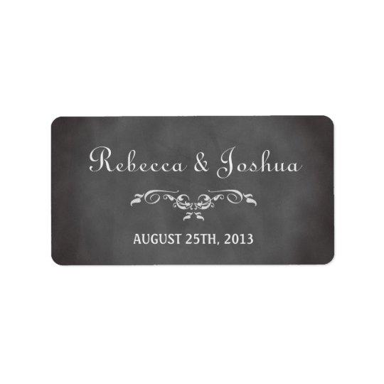 ヴィンテージのロマンチックな黒板の結婚式の引き出物のラベル 宛名ラベル
