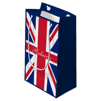 ヴィンテージのロンドンのファッションのイギリスの旗の英国国旗 スモールペーパーバッグ