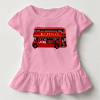 ヴィンテージのロンドンの二重デッカーバス トドラーTシャツ