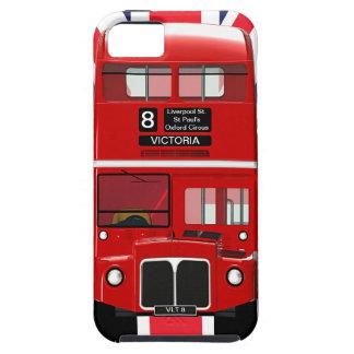 ヴィンテージのロンドンバスおよび英国国旗 iPhone SE/5/5s ケース