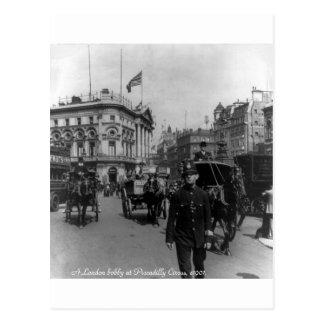 ヴィンテージのロンドンPiccadillyのサーカスの通り場面1901年 ポストカード