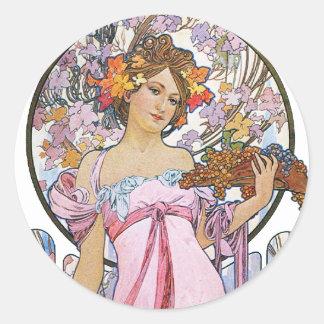 ヴィンテージのローズピンクの女神 ラウンドシール