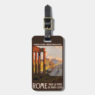 ヴィンテージのローマイタリアのカスタムな荷物のラベル ラゲッジタグ