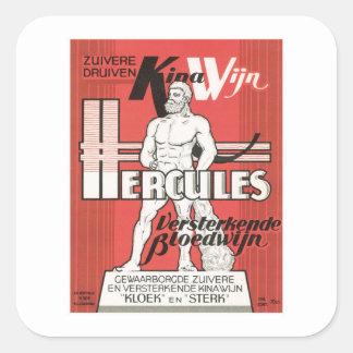 ヴィンテージのワインのアルコール飲料プロダクトラベル スクエアシール