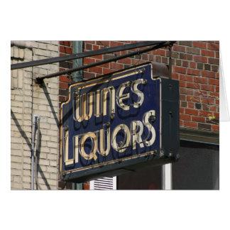 ヴィンテージのワイン及びアルコール飲料Notecard カード