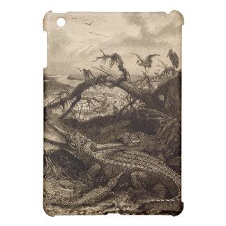 ヴィンテージのワニの泥地のiPad Miniケースの芸術のハ虫類 iPad Miniケース