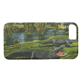 ヴィンテージのワニ、海洋生物動物、ハ虫類 iPhone 8/7ケース