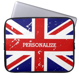 ヴィンテージの一見のイギリスの英国国旗の旗のラップトップスリーブ ラップトップスリーブ