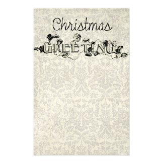 ヴィンテージの一見のクリスマスの挨拶 便箋