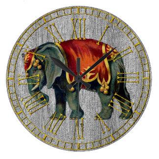 ヴィンテージの一見のサーカス象 ラージ壁時計